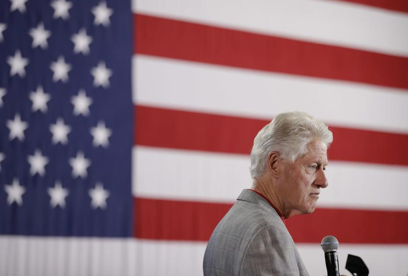 Former President Bill Clinton speaks while campaigning for his wife, Democratic presidential candidate Hillary Clinton, Wednesday, Sept. 14, 2016, in North Las Vegas.