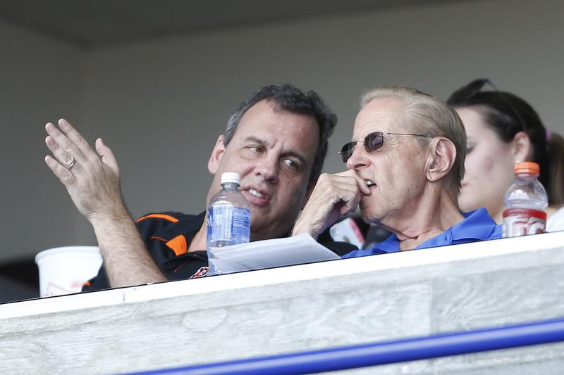 Fred Wilpon, majority owner of the New York Mets, is one of Christie's wealthiest backers.