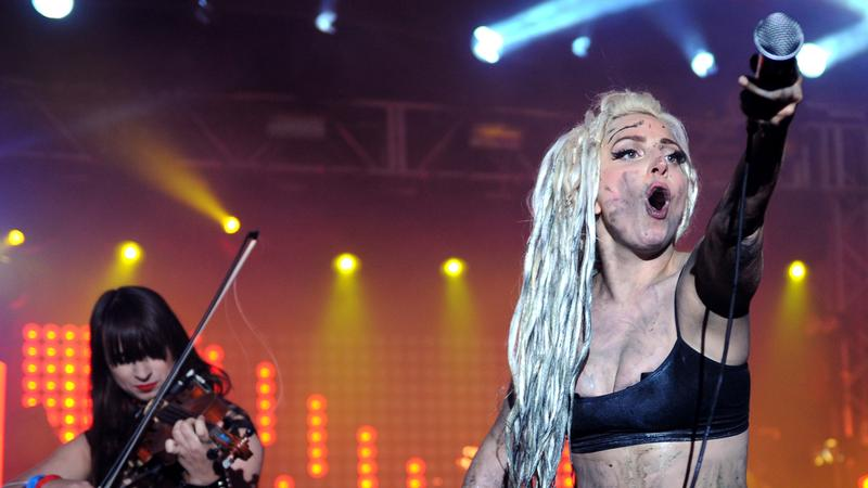 Lady Gaga performs at the Doritos #BoldStage at Stubb's Bar-B-Q on March 13, 2014 at SXSW.
