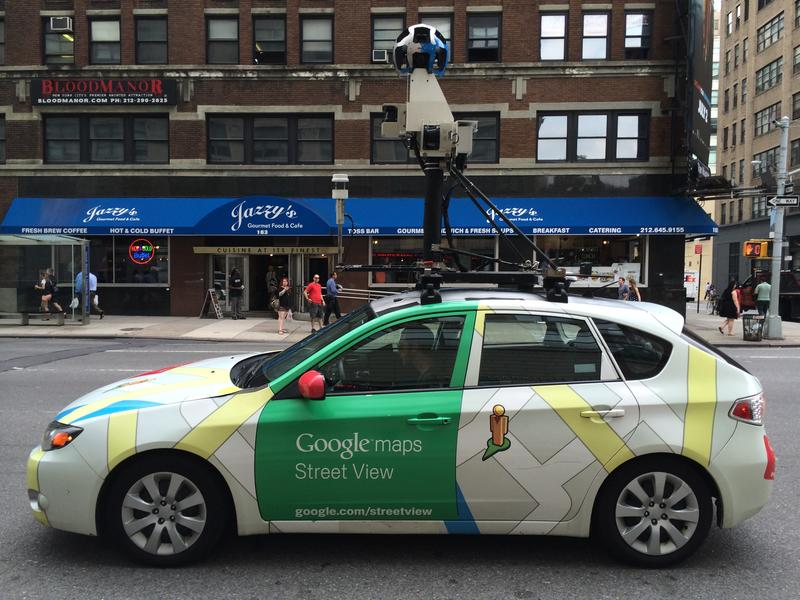 A Google Street View mapping car with special sensors to locate and assess gas leaks.