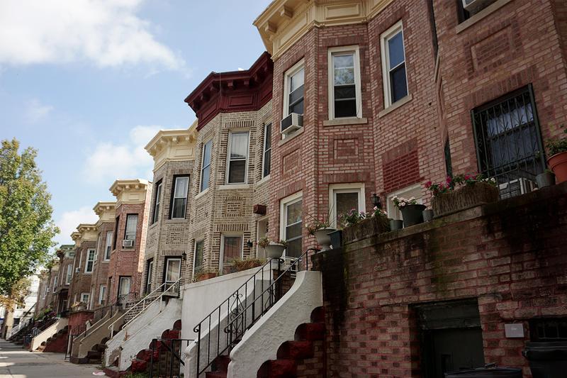Row houses in Flatbush, Brooklyn