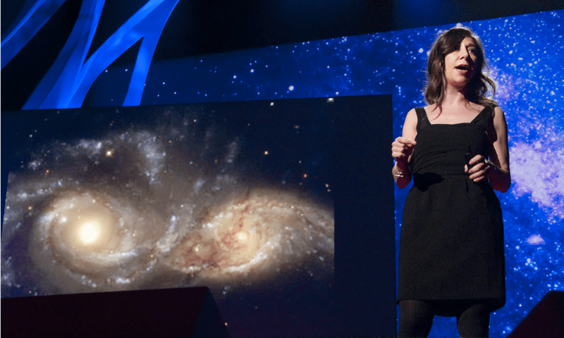 "Janna Levin presents her TED Talk, ""The Sound the Universe Makes"" in 2011"