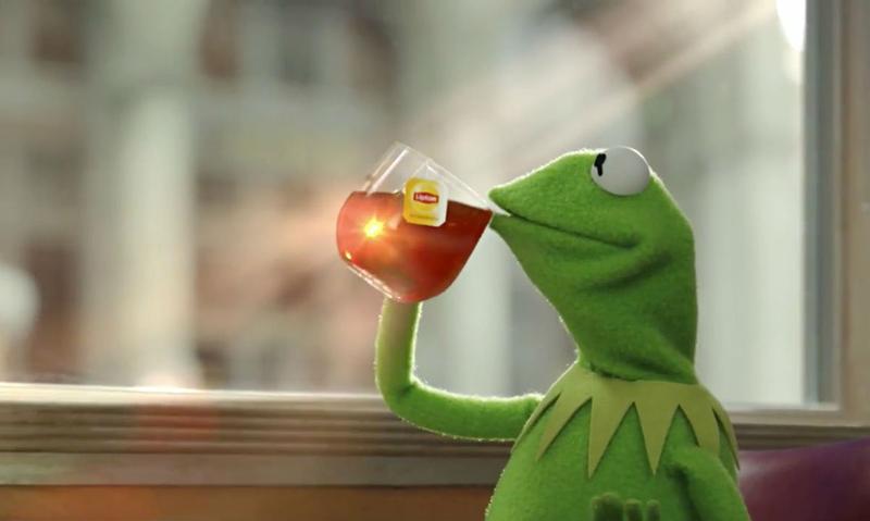 Kermit and his tea break the internet