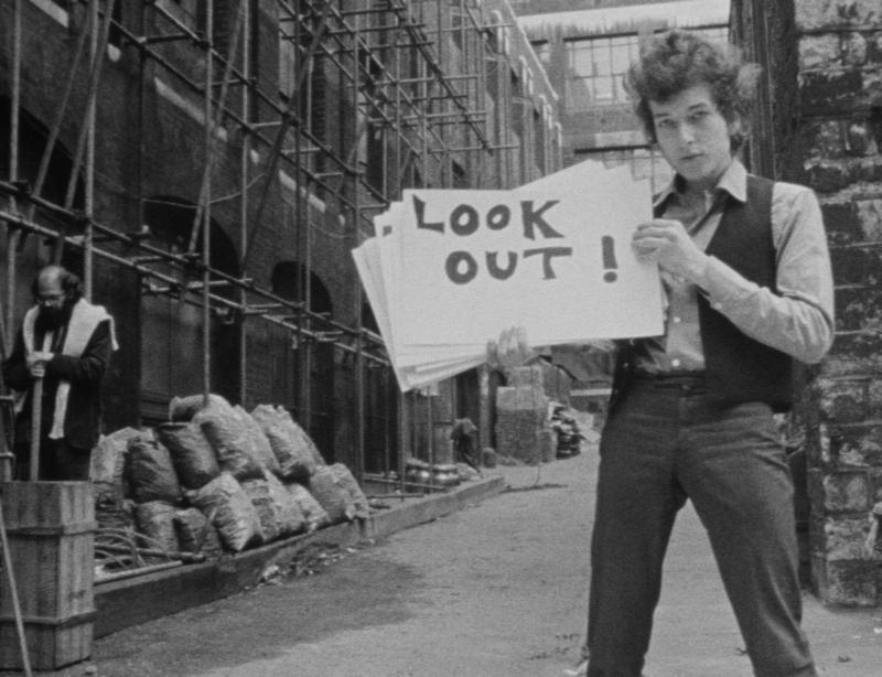 "Bob Dylan in D.A. Pennebaker's documentary, ""Dont Look Back."""