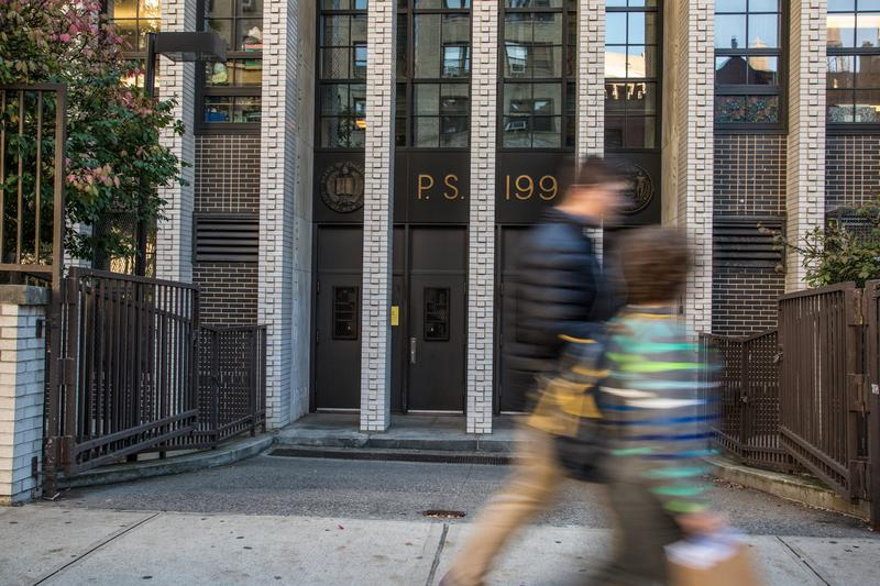 P.S. 199 on West 70th Street is part of a contentious school rezoning proposal for the Upper West Side.