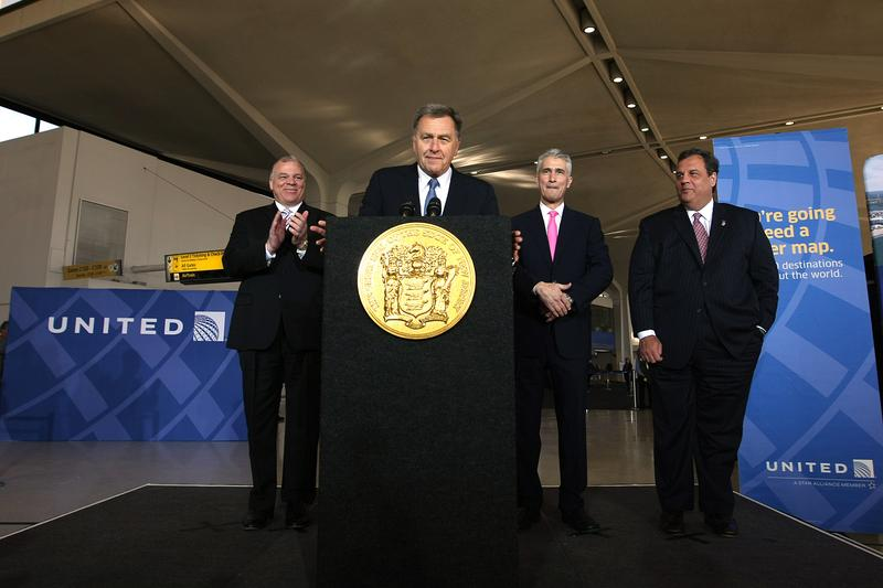 David Samson announcing the Atlantic City airport Deal with Governor Christie.