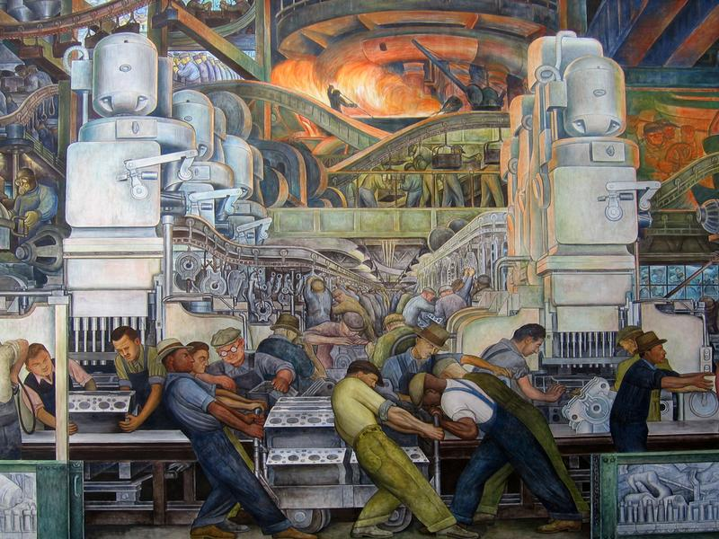 Rebuilding detroit after bankruptcy the takeaway wnyc for Diego rivera mural san francisco art institute