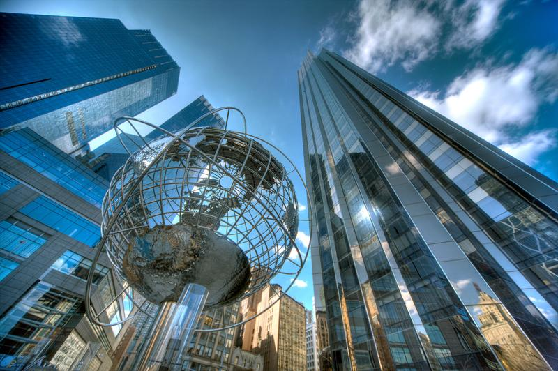 Columbus Circle in New York City, home to the world headquarters of Time Warner.