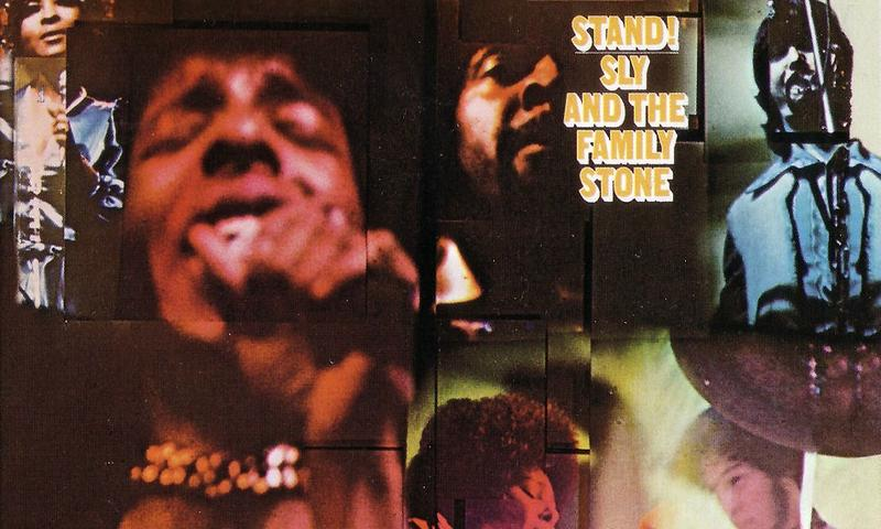 "Detail of the cover of Sly and the Family Stone's 1969 album ""Stand!"""