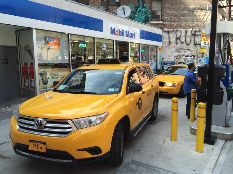 Taxi drivers begin lining up at 4 p.m. — a full hour before the end of their shifts — at a gas station in the Meatpacking District so they will have enough time to fill up.
