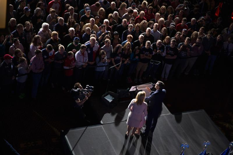 With his family by his side, Republican presidential candidate Sen. Ted Cruz (R-TX) announced he was suspending his bid for the Republican presidential nomination on May 3, 2016 in Indianapolis, IN.