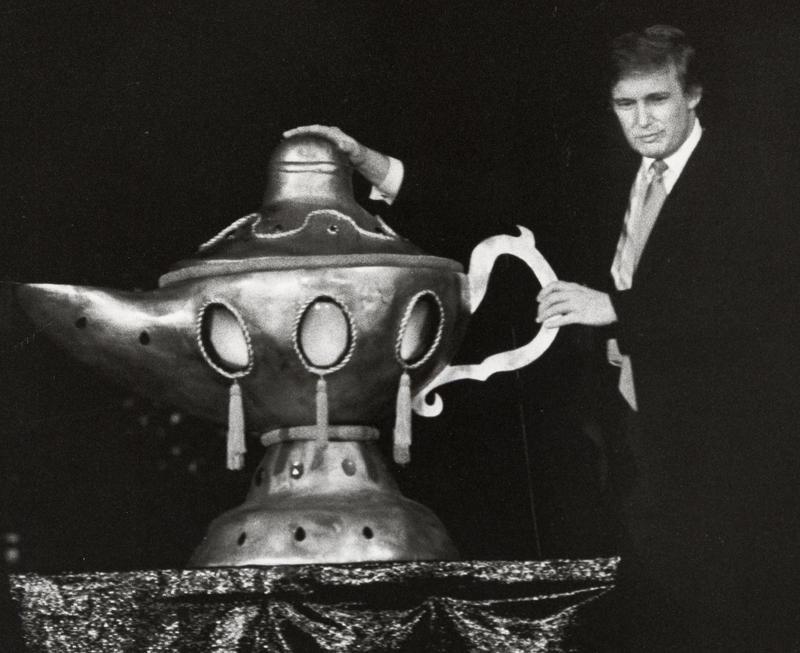 Donald Trump during Opening of Donald Trump's Taj Mahal Casino