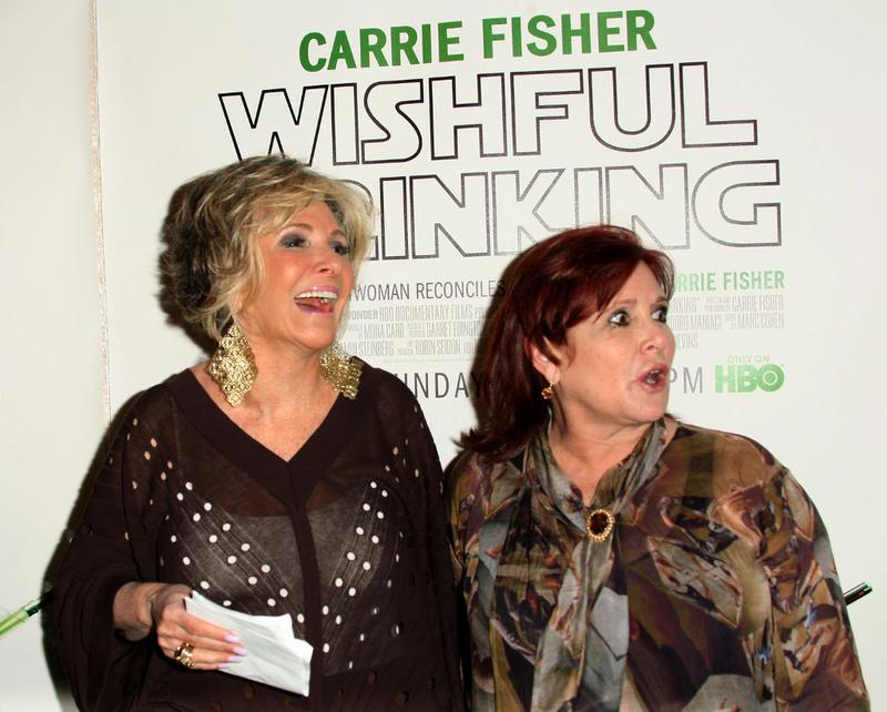 Sheila Nevins HBO President Documenary Films and actress Carrie Fisher (R) attend the premiere of the HBO Documentary 'Wishful Drinking' at the Linwood Dunn Theater on December 7, 2010 in Hollywood.