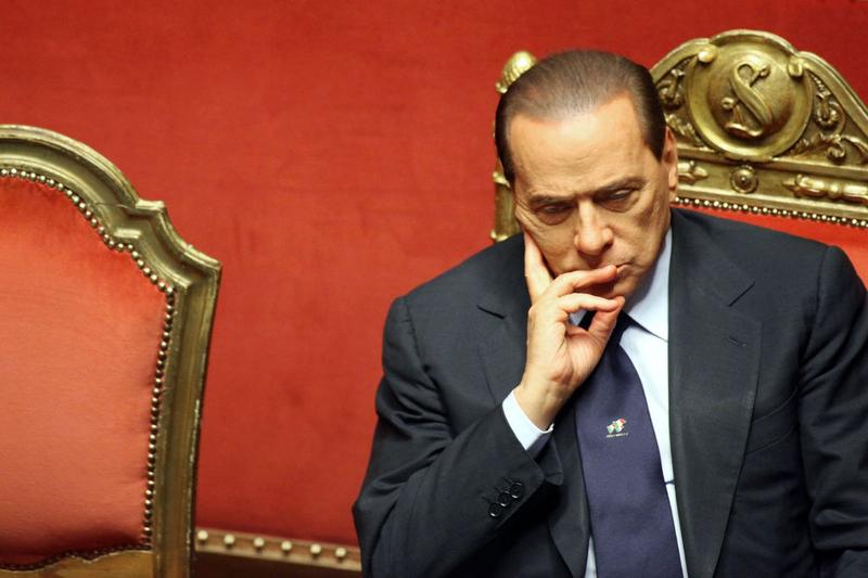 Italian Prime Minister Silvio Berlusconi delivers a speech during a debate at the Senate on December 13, 2010 in Rome, Italy. Berlusconi is facing a vote of no confidence from the Italian Parliament.
