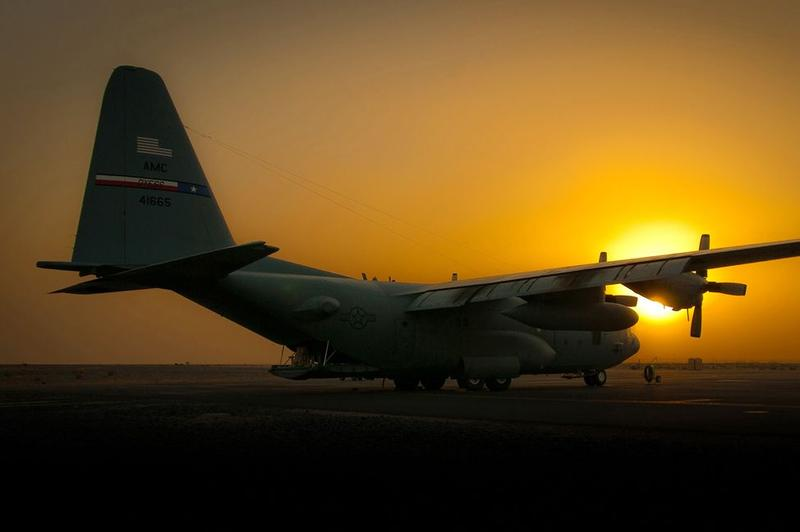 The sun sets on a C-130 Hercules Aug. 31, 2010, as Operation Iraqi Freedom draws to a close at an air base in Southwest Asia.