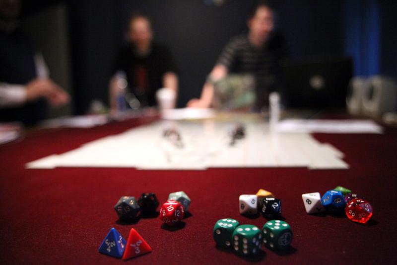 Dice for playing Dungeons and Dragons at The Brooklyn Strategist.