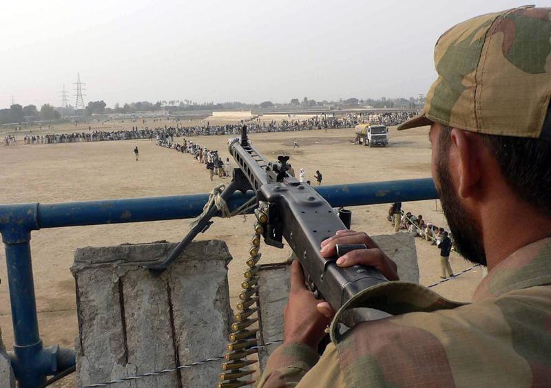 A Pakistani army soldier at his post in South Waziristan near the Afghan border.