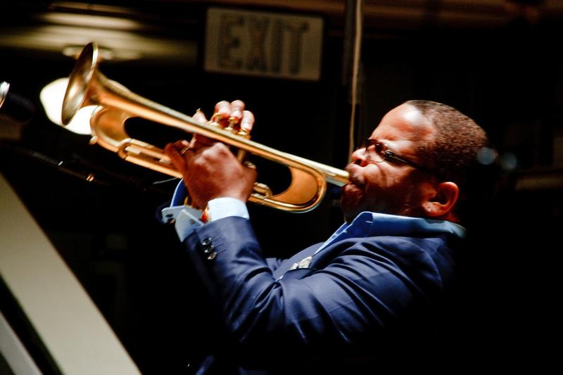 Terence Blanchard at UVA's Old Cabell Hall, with the UVA Jazz Ensemble