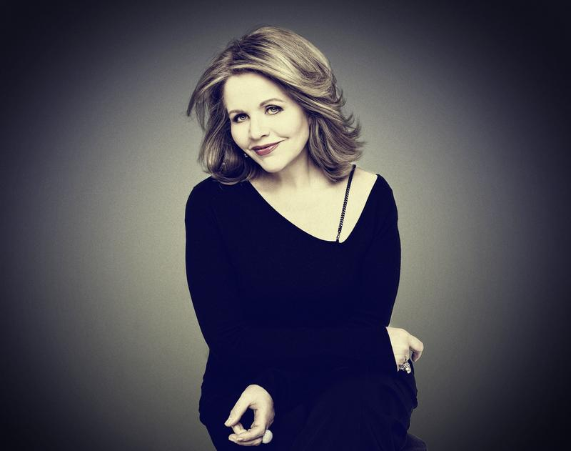 Headshot and cover art for Renée Fleming's album, 'Distant Light.'
