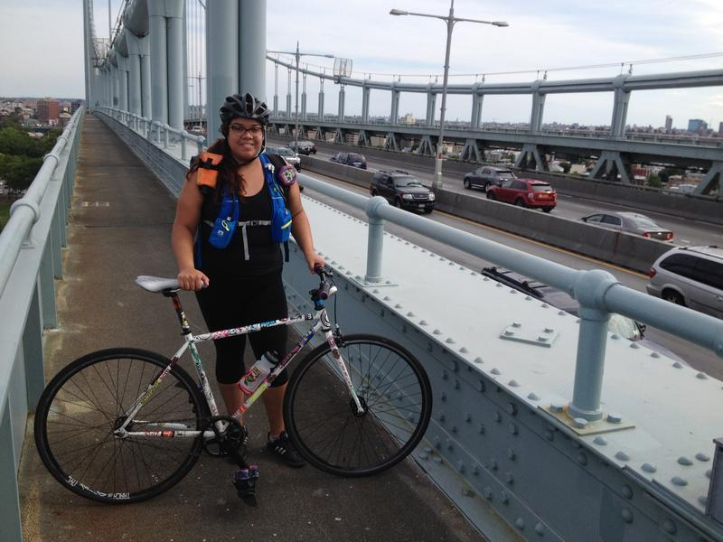 Bike routes on many bridges offer a little distance and protection from vehicle exhaust, but not the Triborough.