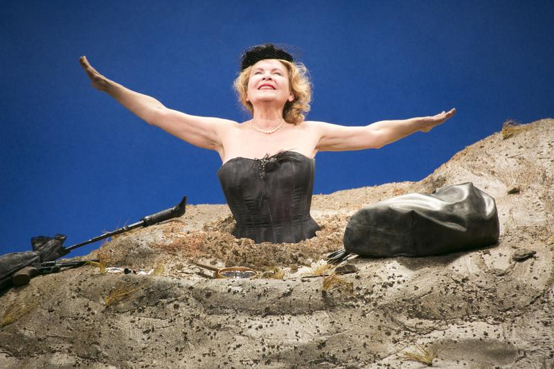 """Dianne Wiest stars as Winnie in the Yale Repertory Theatre production of """"Happy Days."""""""