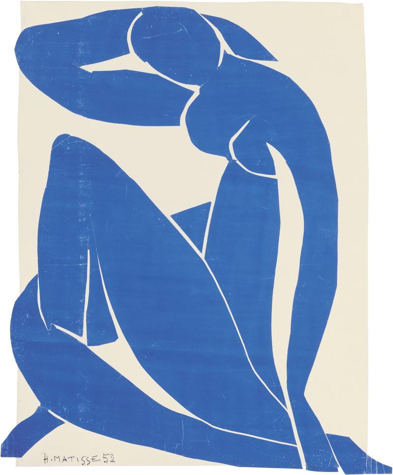 Henri Matisse (French, 1869-1954). Blue Nude II (Nu bleu II), spring 1952.