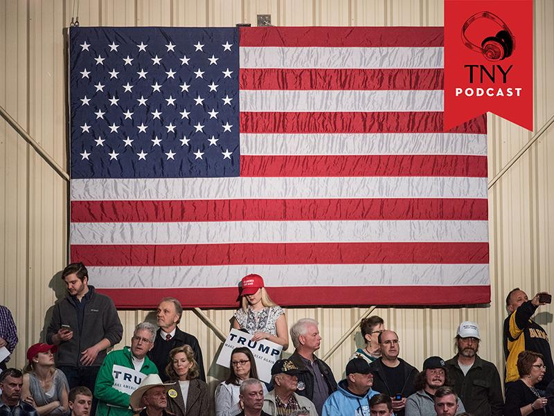 CONCORD, NC - MARCH 7: Donald Trump supporters wait for the arrival of the Republican presidential candidate at a campaign rally March 7, 2016 in Concord, North Carolina. The North Carolina Republican