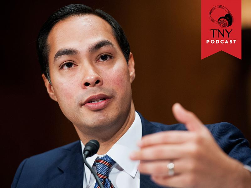 UNITED STATES - JUNE 17: San Antonio Mayor Julian Castro testifies at a Senate Banking, Housing and Urban Affairs Committee hearing in Dirksen Building on his nomination to be Secretary of Housing an