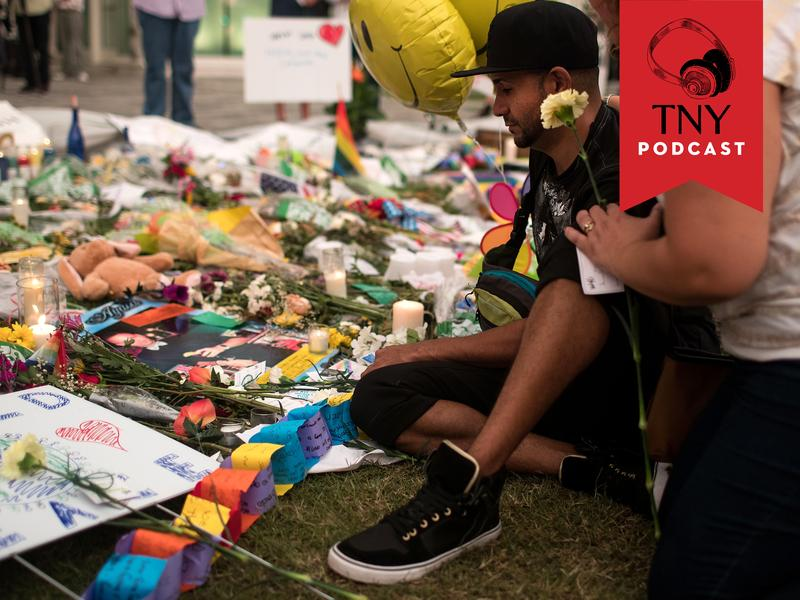 ORLANDO, FL - JUNE 14: People visit a memorial for the victims of the Pulse Nightclub shooting, at the Dr. Phillips Center for Performing Arts, June 14, 2016 in Orlando, Florida. The shooting at Pulse