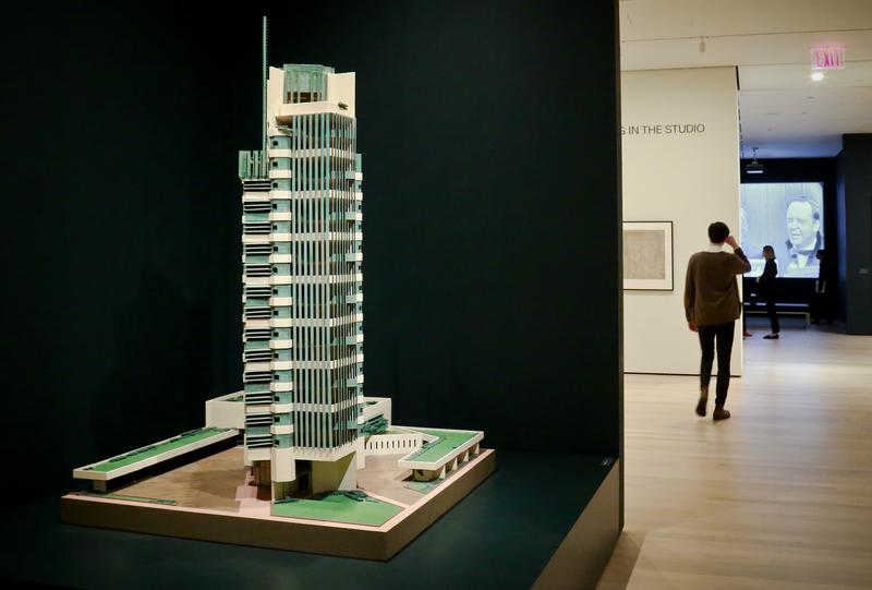 A 1952 model of architect Frank Lloyd Wright's Price Tower hi-rise, which was built in Bartlesville, Okla.