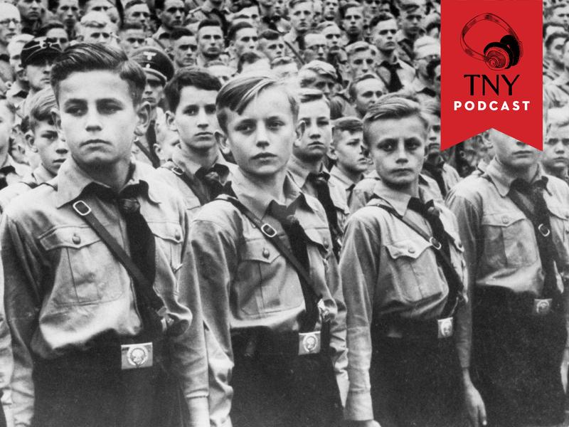 Circa 1939: Group of boys in Hitler Youth.