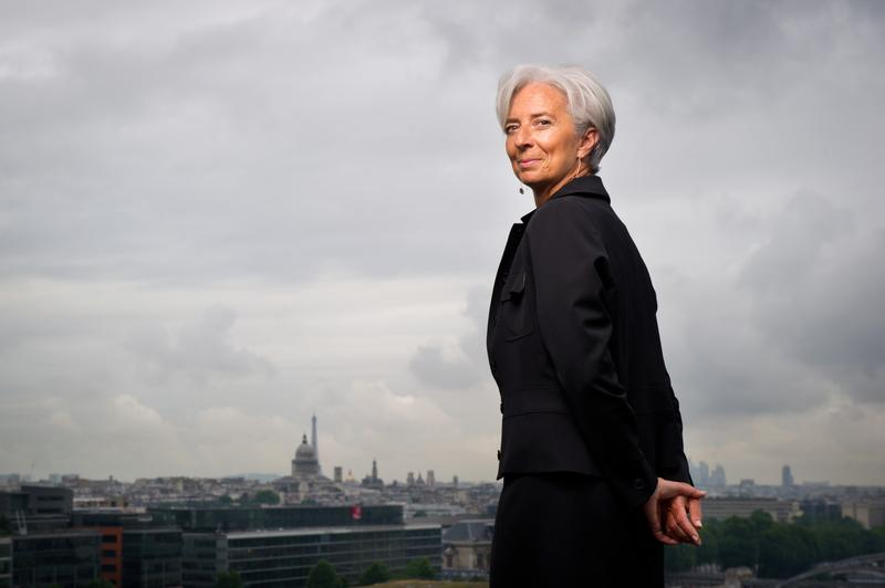 French Economy Minister Christine Lagarde, 55, candidate for the head of International Monetary Fund (IMF), poses on the heliport of her ministry, on June 14, 2011 in Paris.