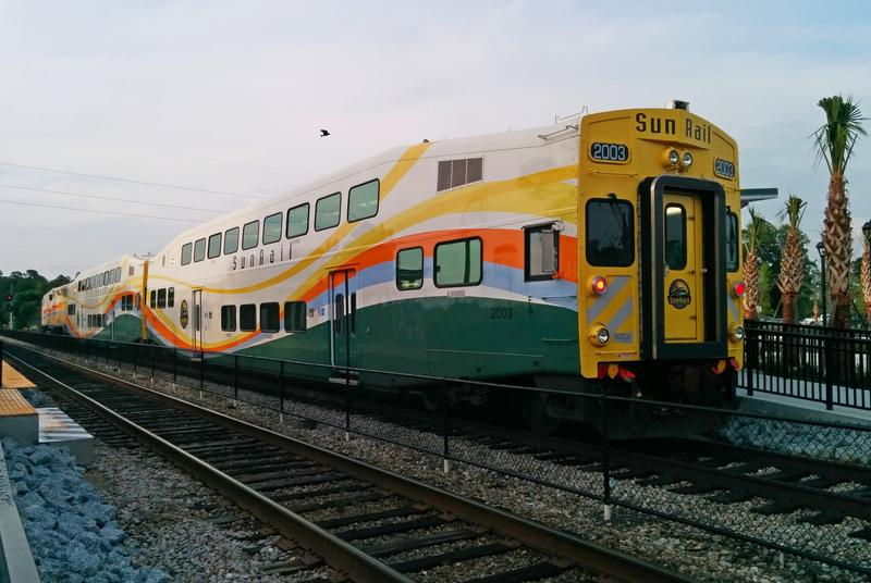 A SunRail train in Florida