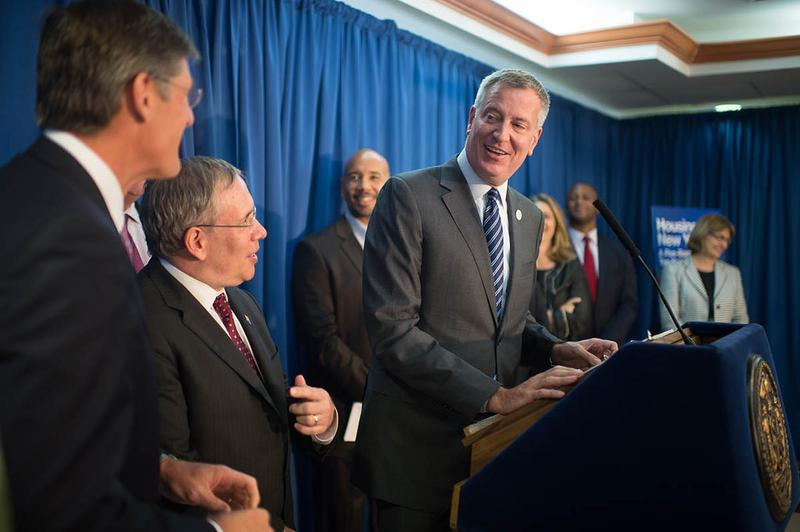 Mayor de Blasio and Comptroller Stringer