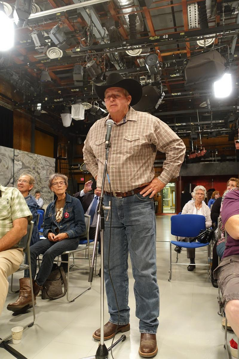 Rancher Randy Thompson expresses his views on the Keystone XL Pipeline