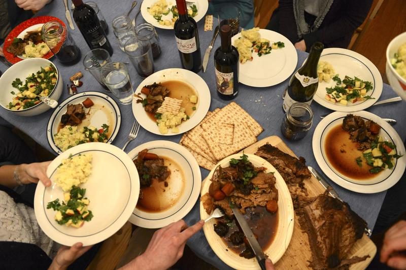 A table spread for a story on a Passover seder meal on Feb. 26, 2013 at a home in Jamaica Plain.