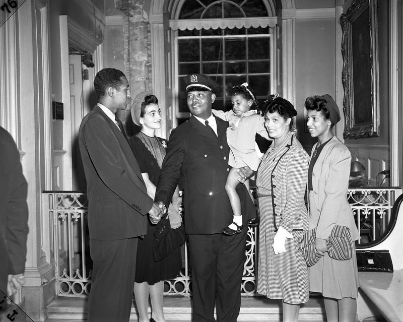 Battle became the first African American member of the New York City Parole Commission in 1941. Family members attended his City Hall swearing-in.