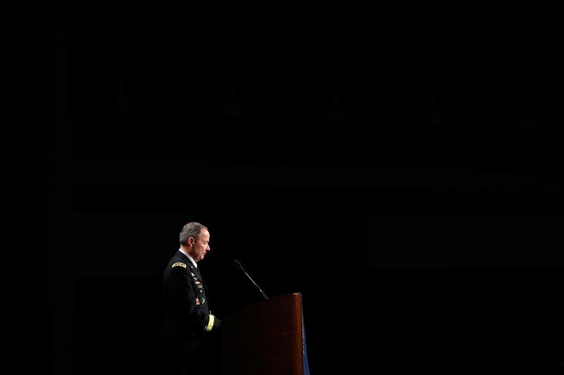 Army Gen. Keith Alexander, commander of U.S. Cyber Command, director of the National Security Agency and chief of the Central Security Service, in Baltimore, Maryland June 27, 2013.