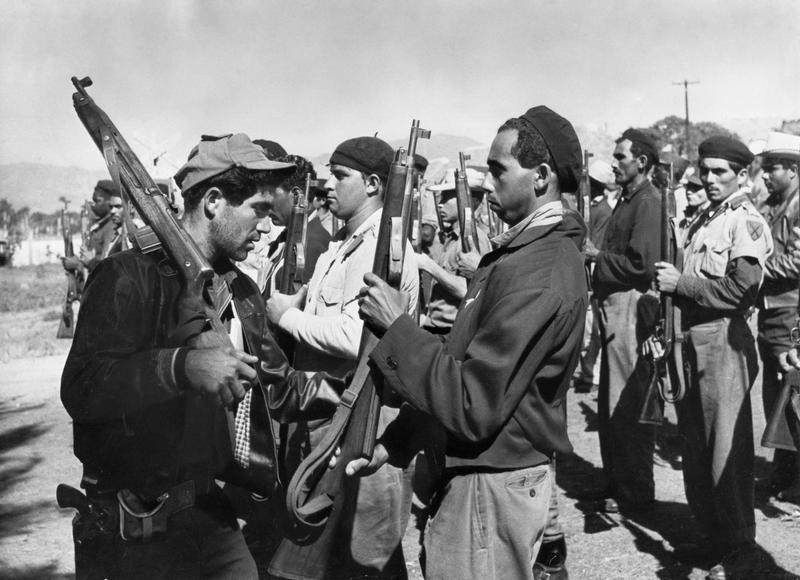 Bay of Pigs, 1961. A group of Cuban militiamen.