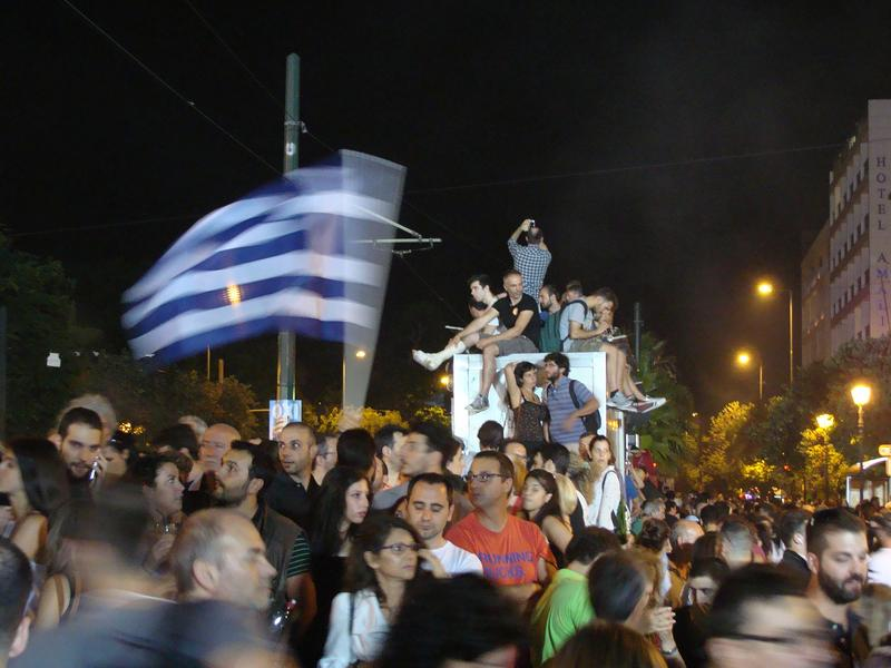 Greek Referendum: OXI/NO Demonstration, Syntagma Square, Athens.