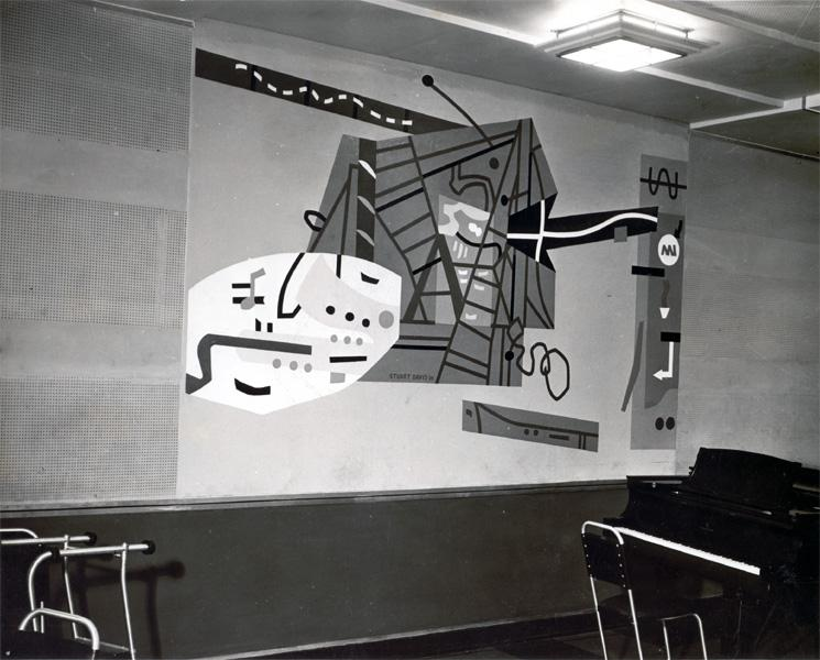 Mural for WNYC Studio B by Stuart Davis