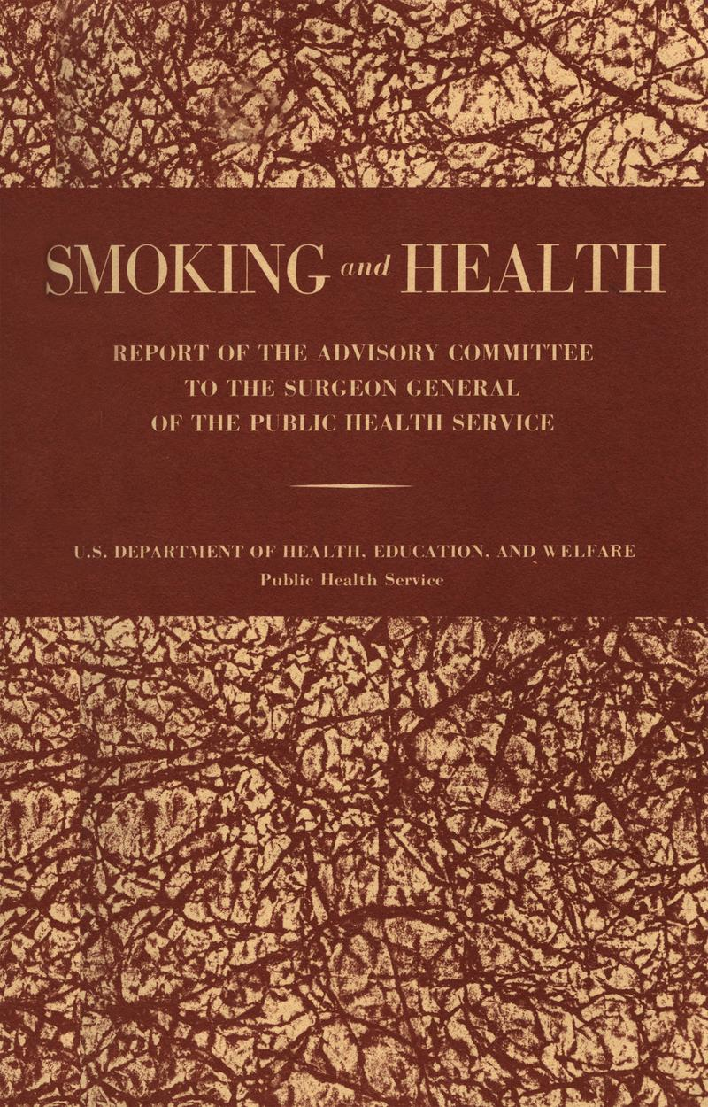 The cover of the 1964 Smoking and Health report