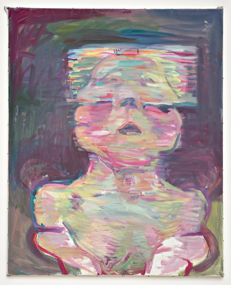 Maria Lassnig's Transparentes Selbstporträt (Transparent Self-Portrait), 1987.