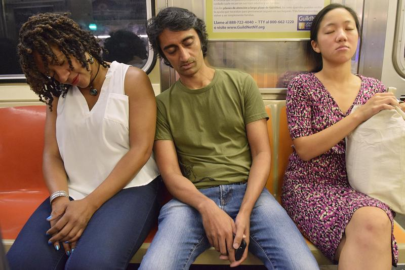 People Sleeping on Subway