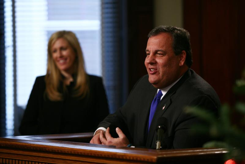 Gov. Chris Christie introduces Deb Gramiccioni as his new deputy executive director of the Port Authority in December 2013. She replaced Bill Baroni.