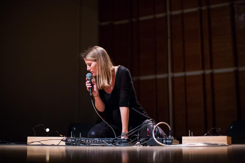 Electronic musician and instrument builder, Lesley Flanigan