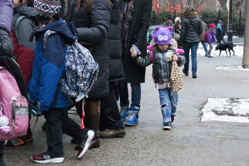 Parents bringing students to school