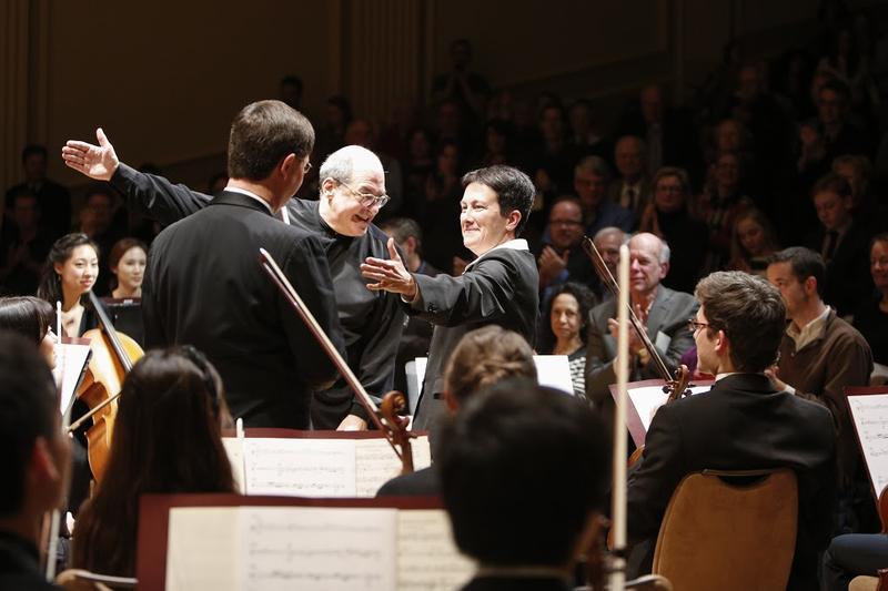 Violist Roberto Diaz, conductor Robert Spano and composer Jennifer Higdon