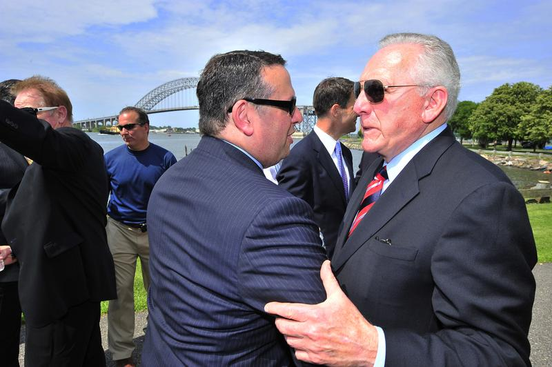 David Wildstein, left, with Raymond Pocino, a Port Authority commissioner who is also vice president of the Laborers International Union of North America.