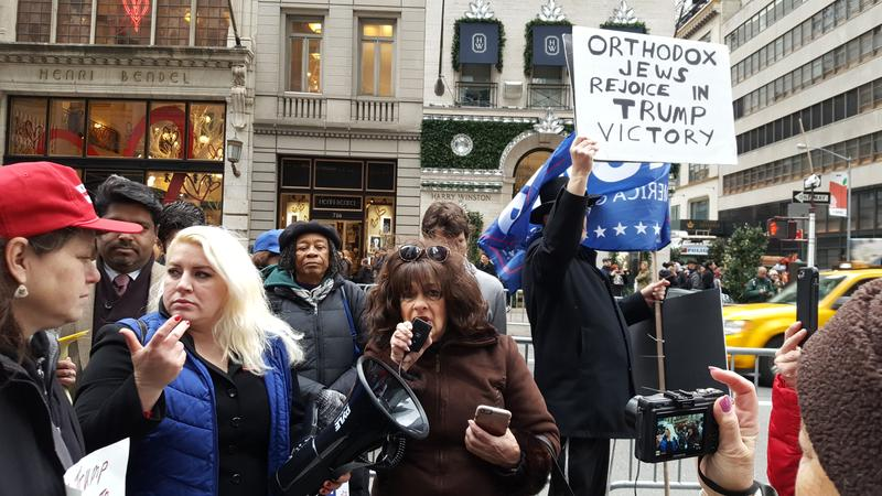 A pro-Trump rally in front of Trump Tower on Nov. 20, 2016.